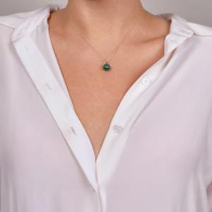 Mateo - Malachite and Diamond Necklace