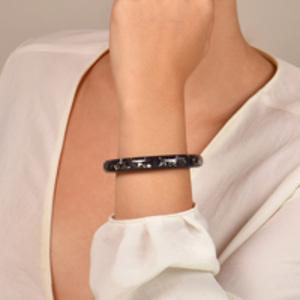 Louis Vuitton - Narrow Inclusion Bangle (Navy Blue/Silver)