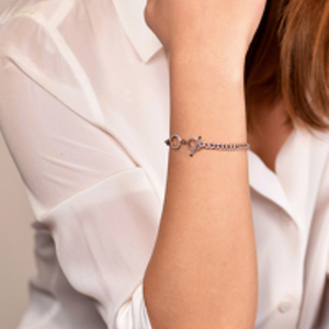 DND - Accented Link Toggle Bracelet (14k Rose Gold-Plated)