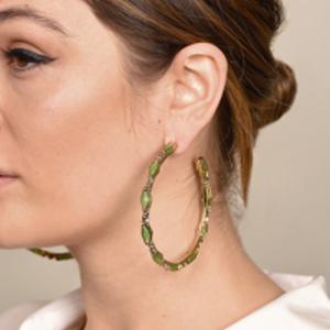 Rosantica - Destino Crystal Hoop Earrings