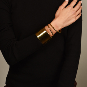Balenciaga - Gold Twisted Cuff Bracelet - Small