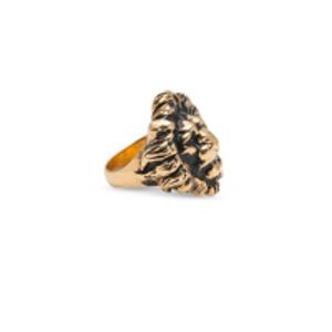 Yves Saint Laurent - Gold- Sizetone Brass Lion Ring - Size 6