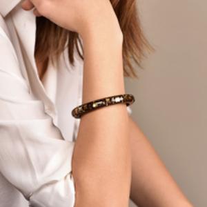 Louis Vuitton - Narrow Inclusion Bangle (Brown/Gold)