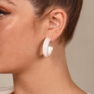 Alison Lou - Small Jelly Hoops (White)