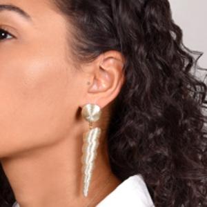 Rebecca De Ravenel - Twisty Drop Skinny Earrings (Gold)