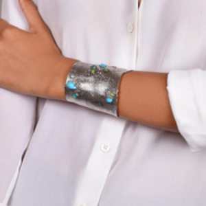 Alexis Bittar - Hammered Turquoise Cuff