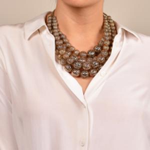 Rosantica - Innocenza Beaded Onyx Gold-Tone Necklace
