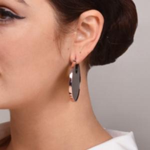 Studio Elke - Eclipse Hoop Earrings (Olive)