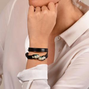 Bvlgari - Serpenti Forever Double Wrap Bracelet (Black)