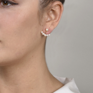 Mateo - Floating Pearl Jacket Earrings