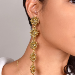 Jacquemus - Gold and Blue Les Soleils Earrings