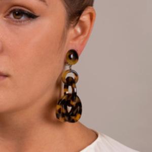 Angela Caputi - Tortoise Link Earrings