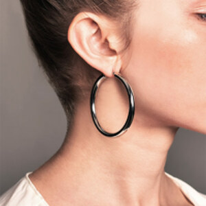 DND - Medium Tube Hoop Earrings (Stainless Steel)