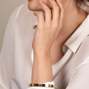 Louis Vuitton - Gimme A Clue Bangle (Gold And Yellow)