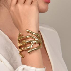 Angela Caputi - Gold-Tone Coral Bracelet
