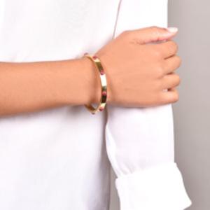 Louis Vuitton - Gimme A Clue Bangle (Gold/Red)