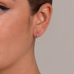 Do Not Disturb - The Santiago Drop Earrings (14k White Gold and Diamonds)