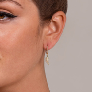 Do Not Disturb - The Amsterdam Drop Earrings (14k Yellow Gold and Diamonds)