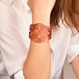 Lara Bohinc - Solar Light Transparent Pink Cuff Bracelet