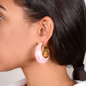Cult Gaia - Mona Hoop Earrings (Pink)
