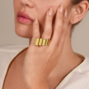 Gaviria - Eero Ring (Gold) - Size 7.5