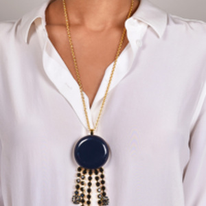 Marni - Blue Resin Pendant Necklace
