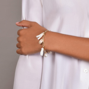 Chains and Pearls - Gold Filled Multi Pearl Bracelet