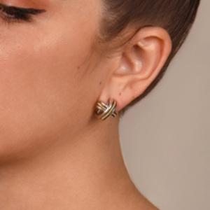 Tiffany & Co. - Two-Tone X Earrings - Small