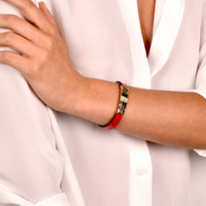 Bvlgari - Leather Scaglie Bracelet