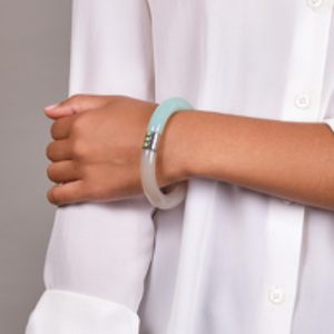 Bottega Veneta - Two-Tone Resin Bracelet