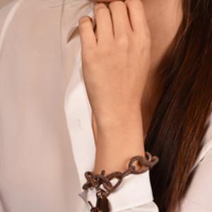 Yves Saint Laurent - Logo Link Bracelet (Dark Rose Gold)