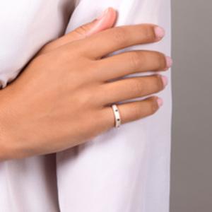 Nadine Aysoy  - Celestine Blue Sapphire Band Ring - Size 6.5