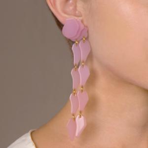 Lele Sadoughi - Wisteria Earrings (Rose Hip)