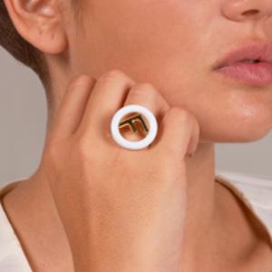 Fendi - F is Fendi Ring (White) - Size 7.25