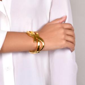 Yves Saint Laurent - Monogram Bracelet (Gold) -  Large
