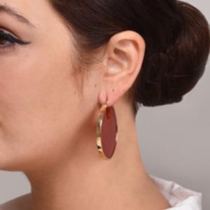 Studio Elke - Eclipse Hoop Earrings (Terracotta)