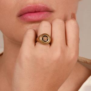 Versace - Medusa Medallion Ring - Size 5.5