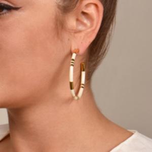 Aurelie Bidermann - Positano Ivory Hoop Earrings