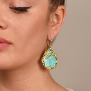 Aurelie Bidermann - Turquoise Francoise Earrings
