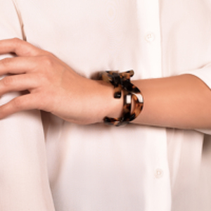 Yves Saint Laurent - Monogram Bracelet (Resin Tortoise) - Small