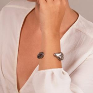 Yves Saint Laurent - Silver Snakehead Cuff