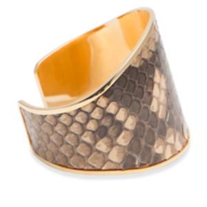 Marni - Snakeskin and Gold Cuff Bracelet