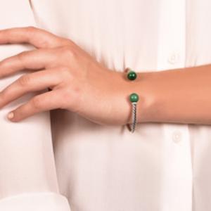 David Yurman - Solari Bracelet With Diamonds And Malachite