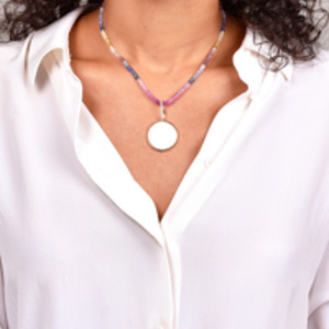 Do Not Disturb - The Lima Necklace (Diamond and Ruby, Emerald, Sapphire)