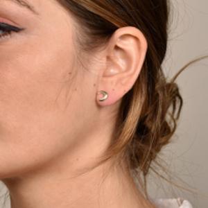 Rebecca Pinto - Petite Luna Earrings (14k Yellow Gold)