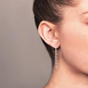 Yu  - Linked Dangle Diamond Earrings (14k White Gold)
