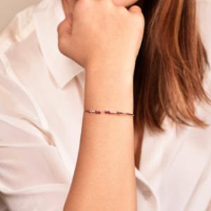 Yu  - Ruby and White Diamond Bracelet (14k Rose Gold)
