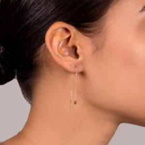 August & June - Star Threader Earrings