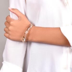 Louis Vuitton - Narrow Inclusion Bangle (Clear/Gold)