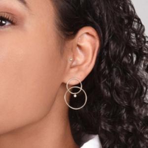 White/Space - Scarpa Diamond Earrings (14k Yellow Gold)